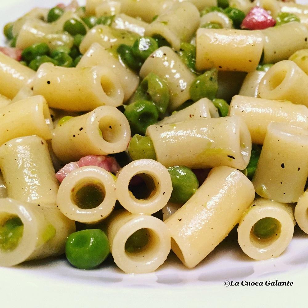 pasta e piselli - pancetta