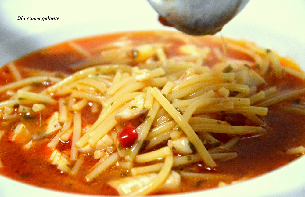minestra di pasta con le triglie