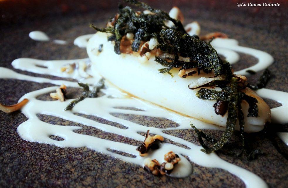 Raffaele Casale –Chic-Calamaro affumicato-salsa ostriche-riso- alghe