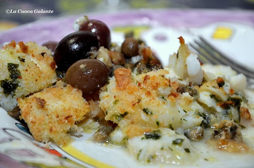 Baccalà gratinato - pan grattato