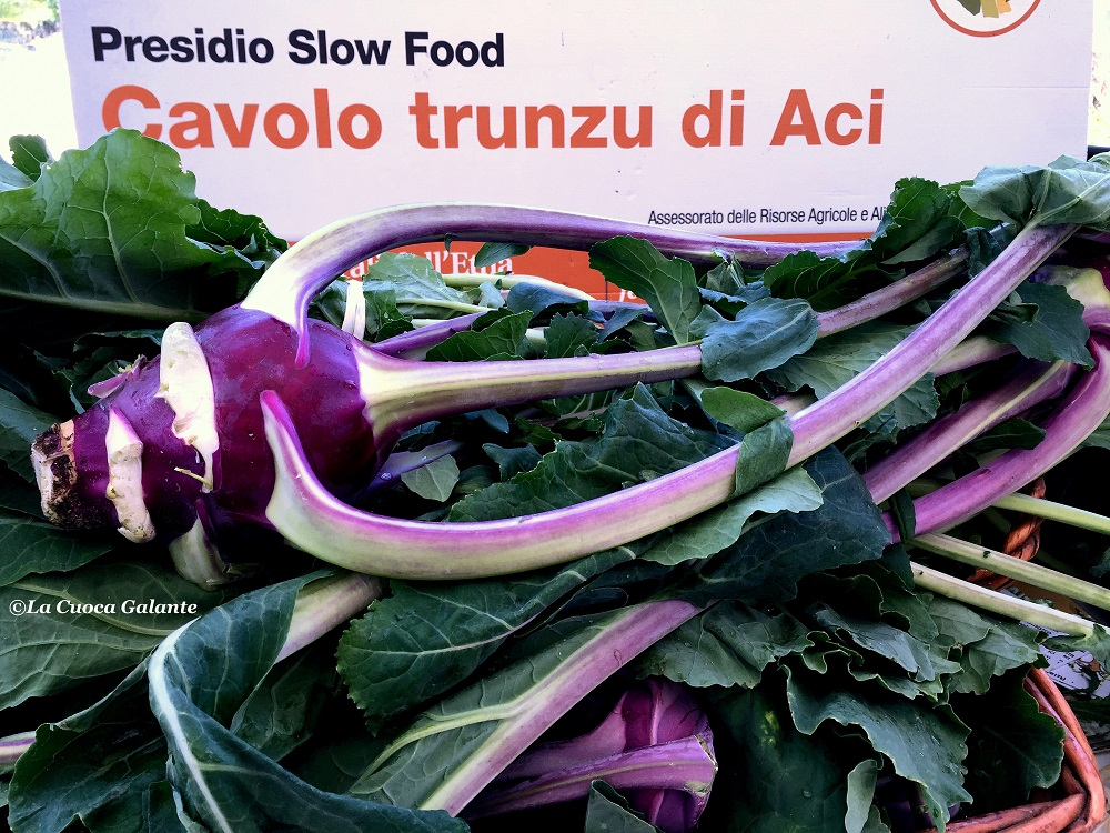 il cavolo trunzo di Aci, presidio Slow Food