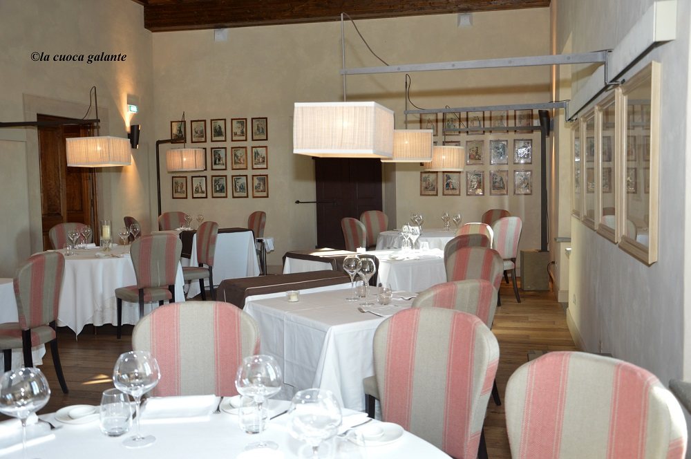 ristorante la rocca di Castelfalfi - sala interna