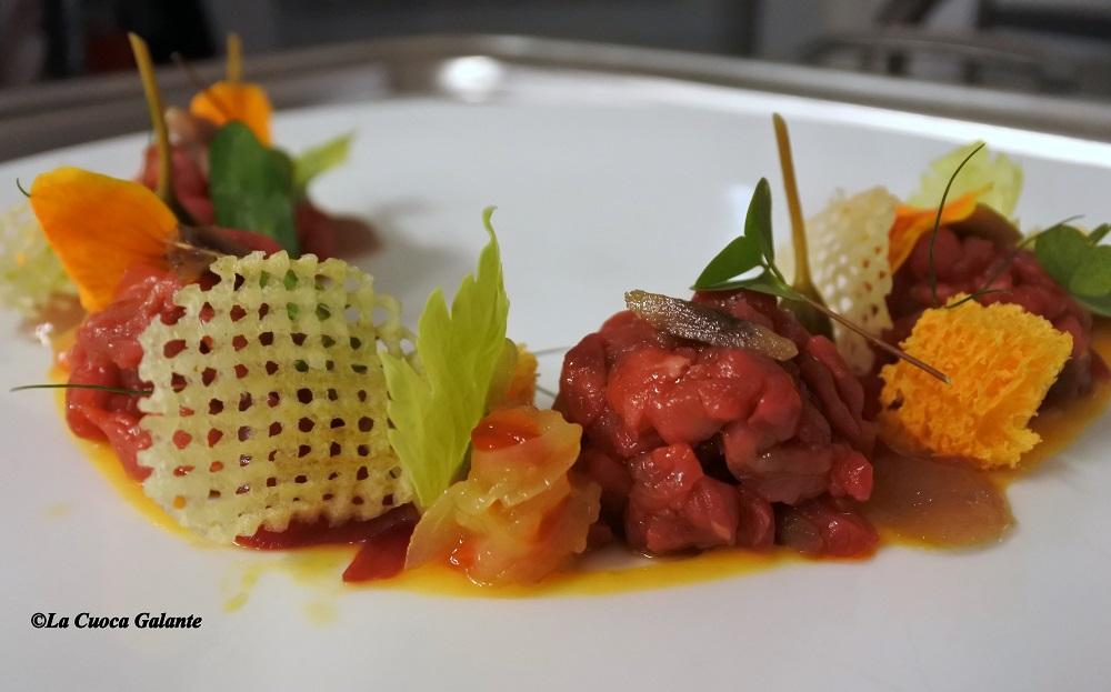 ristorante la rocca di Castelfalfi - tartare chianina