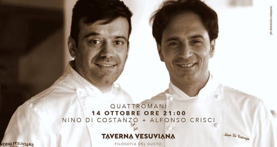Nino Di Costanzo insieme ad Alfonso Crisci alla Taverna Vesuviana