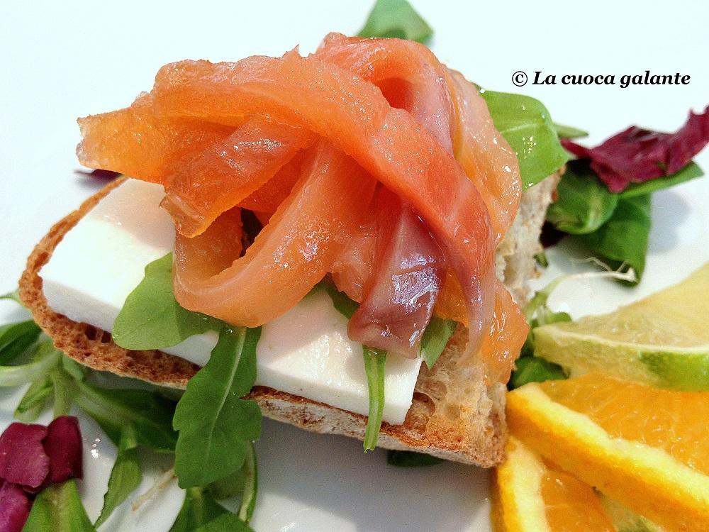 bruschetta - Salmone affumicato Loch Fyne