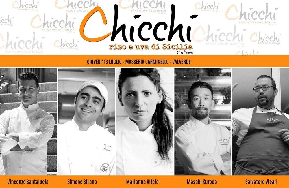 Chicchi di riso e uva di Sicilia : 5 chef per un arancino.
