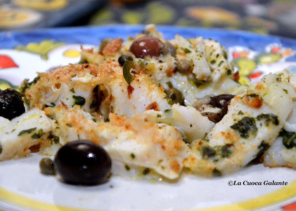 Baccala Gratinato Al Forno La Cuoca Galante Cucina Napoletana