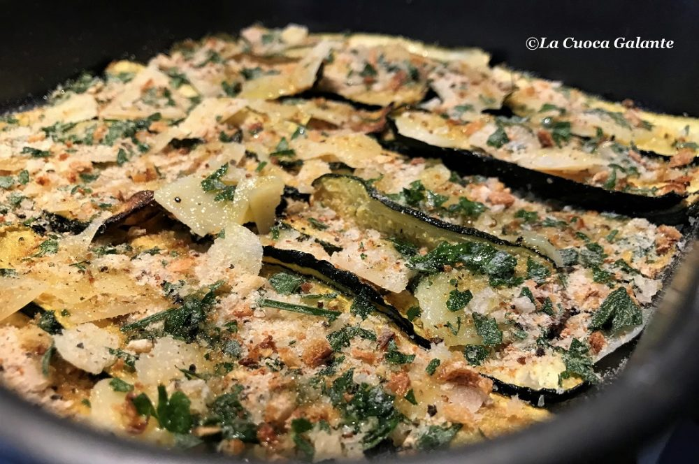 Zucchine al forno gratinate