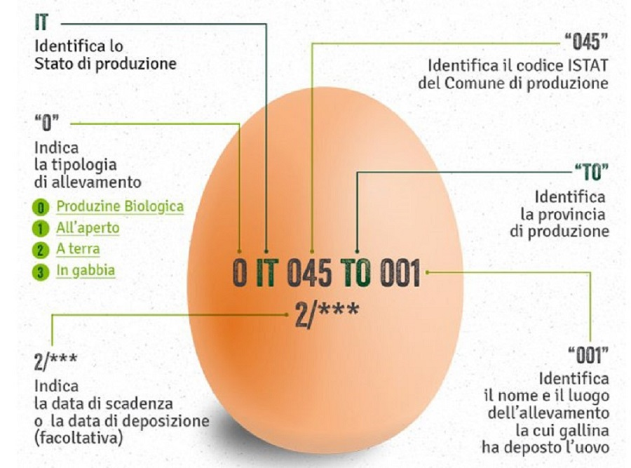 etichettatura uova